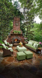 Marvelous Backyard Fireplace Ideas To Beautify Your Outdoor Decor 02