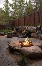 Marvelous Backyard Fireplace Ideas To Beautify Your Outdoor Decor 12