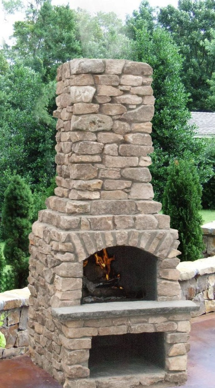 Marvelous Backyard Fireplace Ideas To Beautify Your Outdoor Decor 31