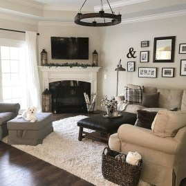 Popular Ways To Efficiently Arrange Furniture For Small Living Room 05