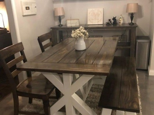 Rustic Farmhouse Table Ideas To Use In The Decor 24