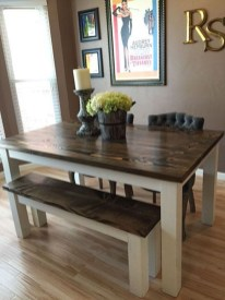 Rustic Farmhouse Table Ideas To Use In The Decor 41