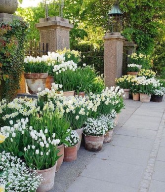 Stunning Spring Flower Garden Ideas With Perfect Lighting To Increase Your Design 37