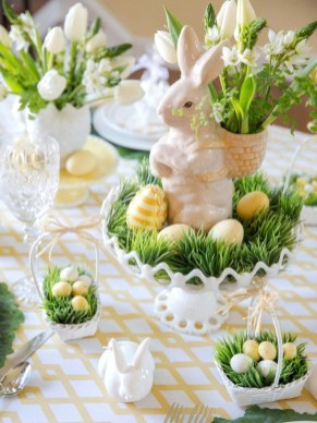 Superb Easter Indoor Decoration Ideas For Your Home 36