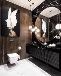 Unordinary Bathroom Design Ideas With Stunning Wood Shades 02