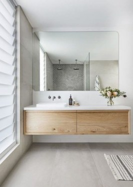 Unordinary Bathroom Design Ideas With Stunning Wood Shades 06