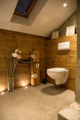 Unordinary Bathroom Design Ideas With Stunning Wood Shades 15