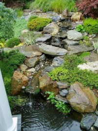 Innovative DIY Backyard Waterfall Ideas To Beautify Your Home Garden 05