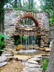 Innovative DIY Backyard Waterfall Ideas To Beautify Your Home Garden 10