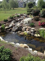 Innovative DIY Backyard Waterfall Ideas To Beautify Your Home Garden 14