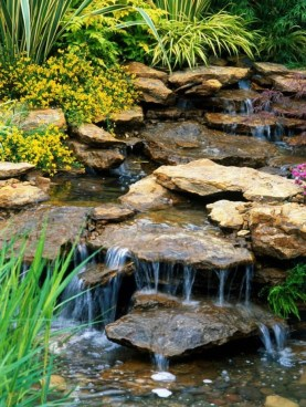 Innovative DIY Backyard Waterfall Ideas To Beautify Your Home Garden 17