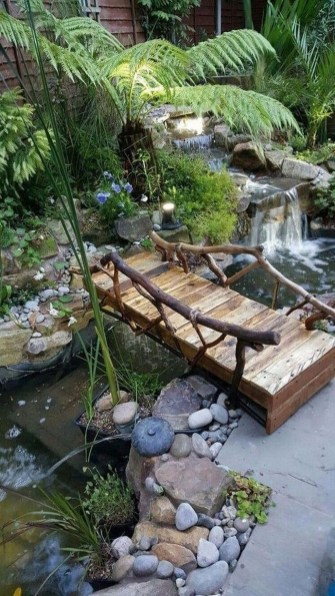 Innovative DIY Backyard Waterfall Ideas To Beautify Your Home Garden 19