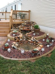 Innovative DIY Backyard Waterfall Ideas To Beautify Your Home Garden 33