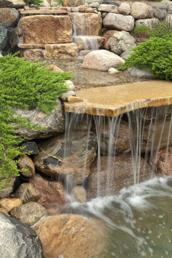 Innovative DIY Backyard Waterfall Ideas To Beautify Your Home Garden 39