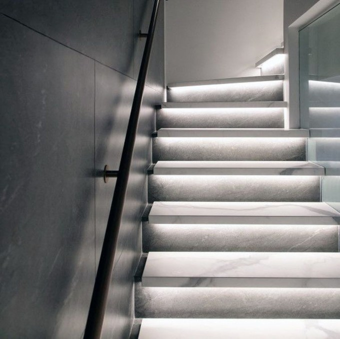 Perfect Home Stair Design With Light That Very Beautiful 45