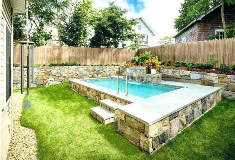 Simple Tiny Swimming Pool Ideas For Stunning Small Backyard 49