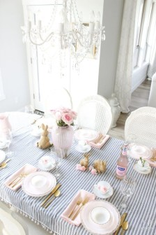 Superb Easter Table Decoration Ideas To Give Your Tablescape A Festive Vibe 04