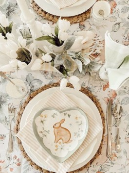 Superb Easter Table Decoration Ideas To Give Your Tablescape A Festive Vibe 17