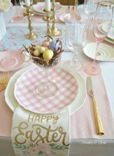 Superb Easter Table Decoration Ideas To Give Your Tablescape A Festive Vibe 19