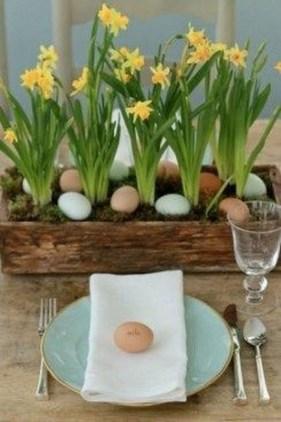 Superb Easter Table Decoration Ideas To Give Your Tablescape A Festive Vibe 33