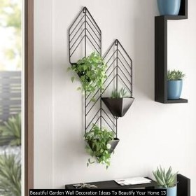 Beautiful Garden Wall Decoration Ideas To Beautify Your Home 13