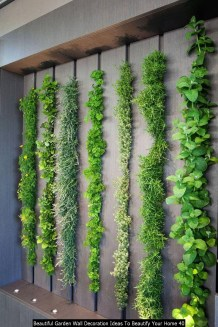 Beautiful Garden Wall Decoration Ideas To Beautify Your Home 40