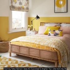 Charming Yellow Bedroom Ideas Are Guaranteed To Brighten Your Little One's Day 05