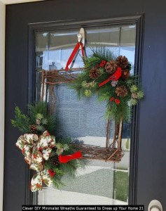 Clever DIY Minimalist Wreaths Guaranteed To Dress Up Your Home 21