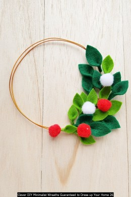 Clever DIY Minimalist Wreaths Guaranteed To Dress Up Your Home 26