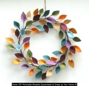 Clever DIY Minimalist Wreaths Guaranteed To Dress Up Your Home 32