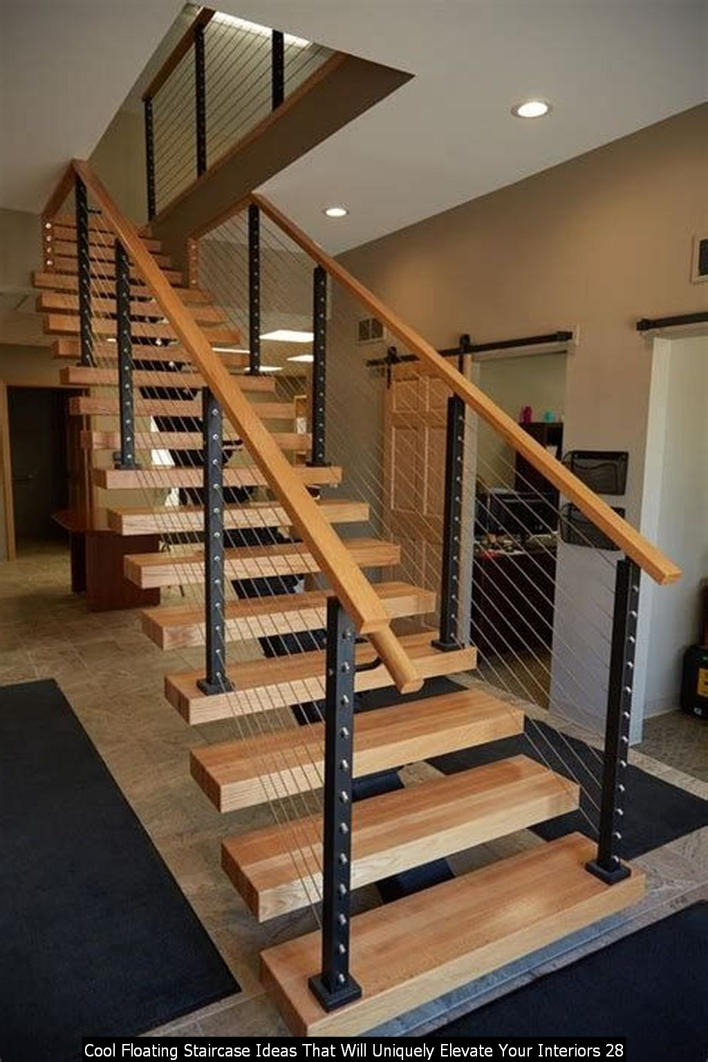 Cool Floating Staircase Ideas That Will Uniquely Elevate Your Interiors 28