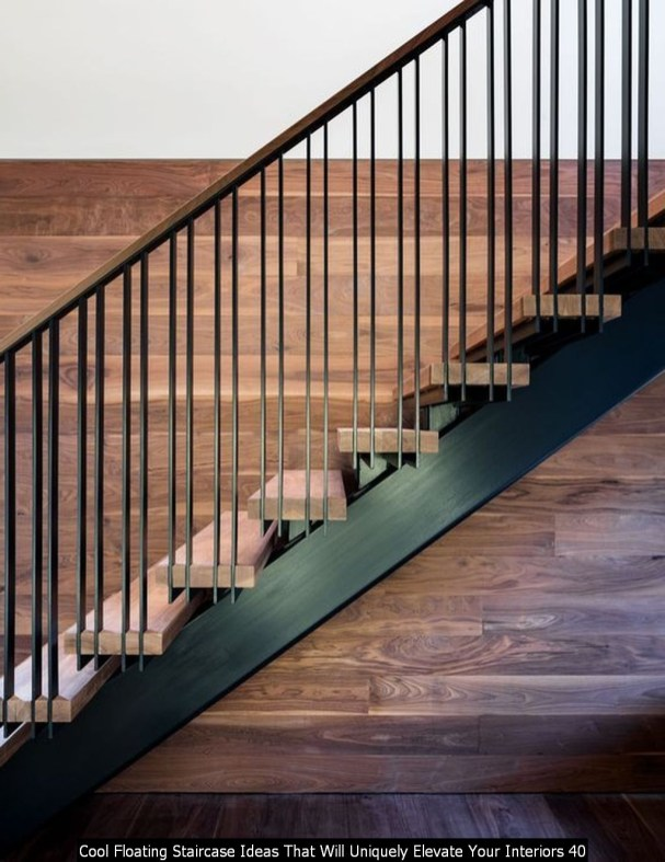 Cool Floating Staircase Ideas That Will Uniquely Elevate Your Interiors 40