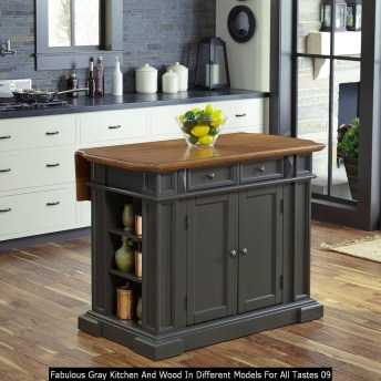 Fabulous Gray Kitchen And Wood In Different Models For All Tastes 09