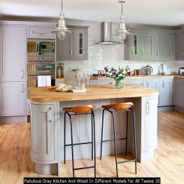 Fabulous Gray Kitchen And Wood In Different Models For All Tastes 10