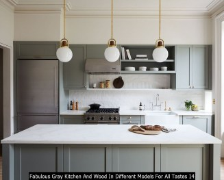 Fabulous Gray Kitchen And Wood In Different Models For All Tastes 14