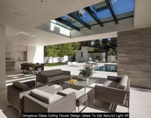 Gorgeous Glass Ceiling House Design Ideas To Get Natural Light 04