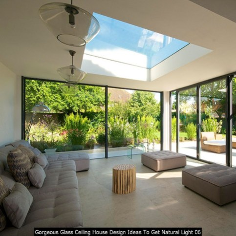 Gorgeous Glass Ceiling House Design Ideas To Get Natural Light 06