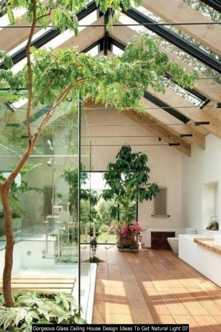 Gorgeous Glass Ceiling House Design Ideas To Get Natural Light 07