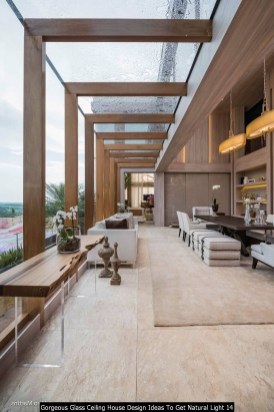 Gorgeous Glass Ceiling House Design Ideas To Get Natural Light 14