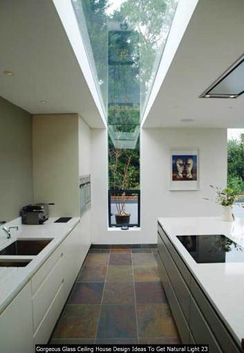 Gorgeous Glass Ceiling House Design Ideas To Get Natural Light 23