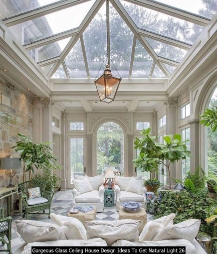 Gorgeous Glass Ceiling House Design Ideas To Get Natural Light 26