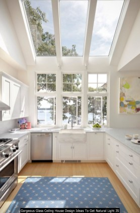 Gorgeous Glass Ceiling House Design Ideas To Get Natural Light 35