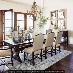 Inspiring Contemporary Dining Room Furniture Ideas For Home Decor 02