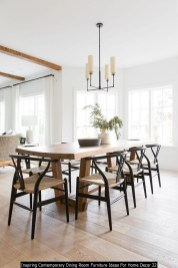 Inspiring Contemporary Dining Room Furniture Ideas For Home Decor 22