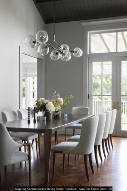Inspiring Contemporary Dining Room Furniture Ideas For Home Decor 28