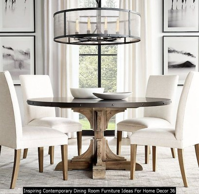 Inspiring Contemporary Dining Room Furniture Ideas For Home Decor 36