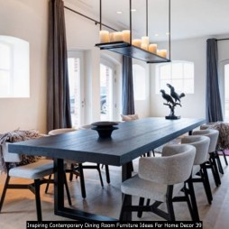 Inspiring Contemporary Dining Room Furniture Ideas For Home Decor 39