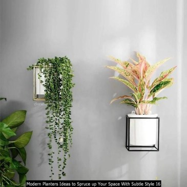 Modern Planters Ideas To Spruce Up Your Space With Subtle Style 16