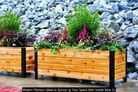 Modern Planters Ideas To Spruce Up Your Space With Subtle Style 21