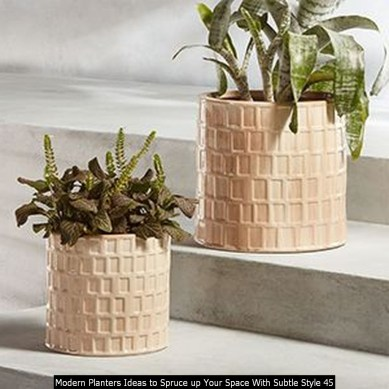 Modern Planters Ideas To Spruce Up Your Space With Subtle Style 45